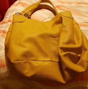 Yellow Leather Aldo Bag